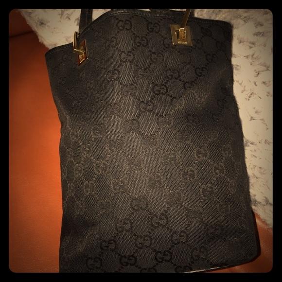 ebe0173dcc3e Gucci Bags | Authentic Black Gg With Gold Hardware | Poshmark